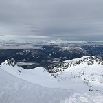 Jan 26, 2017  View from Blackcomb (7th Heaven) and long/steep T-Bar on lower right